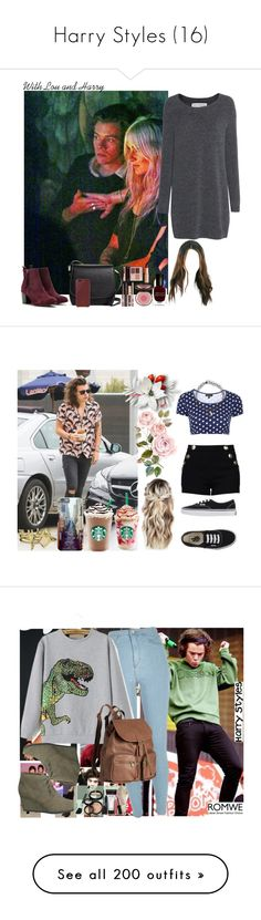 """""""Harry Styles (16)"""" by the-girl-in-the-hallway ❤ liked on Polyvore featuring Fine Collection, Opening Ceremony, Brooks Brothers, Charlotte Tilbury, Deborah Lippmann, Native Union, Boutique Moschino, Topshop, Vans and Marc"""