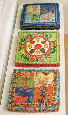 bohemian pillows