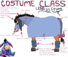 Eeyore costume layout