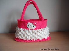 how to crochet hello kitty bag by marifu6a free pattern tutorial - YouTube