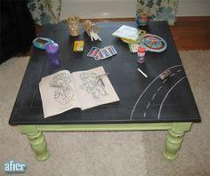 chalk board top table