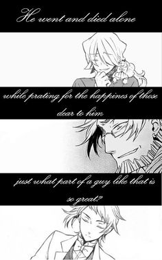 The three most traumatic deaths in Pandora Hearts. It should be praying.