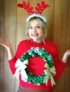 Christmas Wreath Jumper