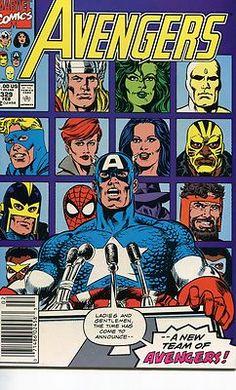 Avengers comic book cover