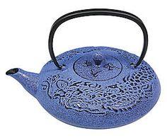 Teiera in ghisa con filtro interno Japan tea blu - 1200 ml