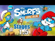 The SMURFS Epic Run - Stages 1 to 5 Gameplay Walkthrough