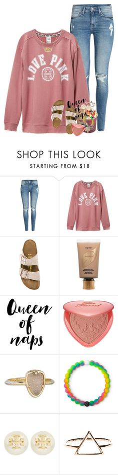 """happy"" by ellaswiftie13 on Polyvore featuring H&M, Victoria's Secret, Birkenstock, tarte, WALL, Too Faced Cosmetics, Kendra Scott, Lokai and Tory Burch"