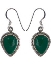 Pendientes de Plata y Onyx verde. Ref: JZO71. Precio: 15 €