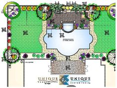 roman shaped pool with landscaping google search - Roman Swimming Pool Designs