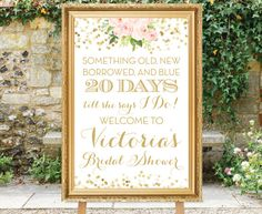 Wedding Countdown Printable Bridal Shower by SimplyFetchingPaper