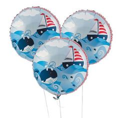 Sailor Anchors Aweigh Birthday Party Balloons 18' (3 Pack) Foil. #Sailor #Anchors #Aweigh #Birthday #Party #Balloons #Pack) #Foil