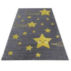 Lasten tähdenlento matto keltainen - Tuppu-Kaluste Jute, Childrens Rugs, Room Carpet, Best Dining, Rug Size, Playroom, Kids Room, Stitch, Yellow