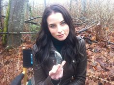 Rachel Nichols shows us the time travel device piece on set of Continuum