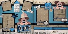 Awesome Dog 2 Premade Scrapbook Pages Paper Piecing Scrapbooking 12x12 Cherry   eBay
