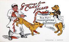 tad dorgan hot dog cartoon - Google zoeken