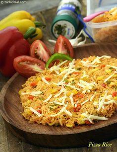 Pizza Rice ( Tiffin Treats)