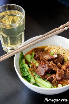 Homemade Beef Brisket Noodle: everything in this bowl are made from scratch, including the noodle ;)
