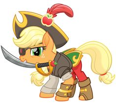 The entire Mane 6 each have their own pirate costume in the upcoming MLP movie. MLP Movie Spoiler - The Dread Pirate Applejack! Mi Little Pony, My Little Pony Movie, My Little Pony Pictures, My Little Pony Friendship, Applejack Mlp, My Little Pony Applejack, Movie Spoiler, Imagenes My Little Pony, Little Poni