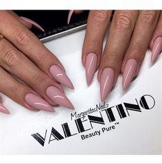 Nude Stiletto Nails by MargaritasNailz