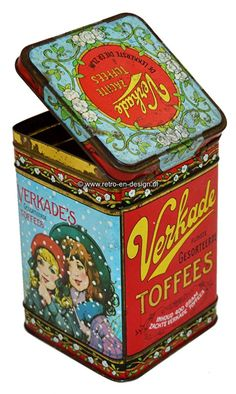 Tin Lunch Boxes, Tin Boxes, Toffee, Tin Containers, Tea Tins, Pretty Packaging, My Childhood Memories, Vintage Christmas Cards, Vintage Labels