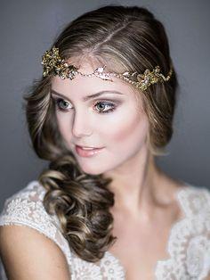 Wedding Headband Bridal Hair Accessories Swarovski by ChrysanthInc