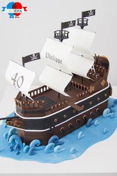 NOS CRÉATIONS - Bateau Pirate - CAKE RÉVOL - Cake Design - Nantes