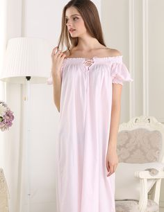 Cheap cotton static, Buy Quality cotton white t shirt directly from China sleepwear lingerie Suppliers: 2016New Summer Sleepwear Women Pink Solid Lace Half-sleeve Home dress Mid-calf Nightgown M,L,XL Recycled fiber Round Nec