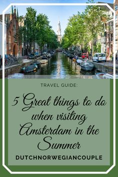 So, you're planning a trip to Amsterdam? And you're wondering what to do while you're there? Here are 5 great things to do in and around Amsterdam. Seen from a Norwegian's p… Visit Amsterdam, Amsterdam Travel, Romantic Getaways, Best Places To Travel, Beach Day, Summer Time, Travel Guide, Dutch, Travel Destinations