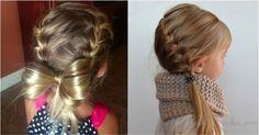 Oi!! Agora que o cabelinho da minha princesa está cada vez mais compridinho está dando para fazer alguns penteados!!...