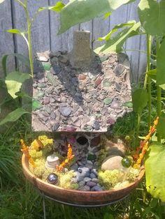 creative fairy house | first fairy garden, fairy house thanks to my creative grandpa | fairy ...