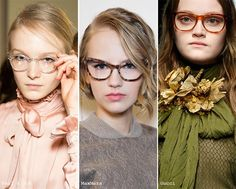 Fall/ Winter 2015-2016 Eyewear Trends: Geeky Nerd Glasses - Totally doing the middle ones for this year.