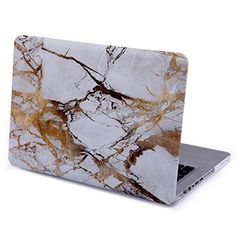 """KRight® Retina 13-Inch Shell White Marble Hard Case Cover for Apple MacBook Pro 13.3"""""""