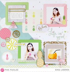 Relax, Life Is Good - Scrapbook.com - Use the latest Instagram-designed frames like these from Pink Paislee to feature smaller sized photos.
