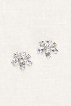 Crystal Cluster Statement Stud Earrings 383282