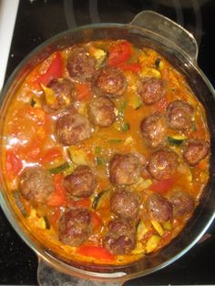 Image - Boulettes de viande à la marocaine - Recettes weight watchers en propoints - Skyrock.com Meat Recipes, Crockpot Recipes, Chicken Recipes, Morrocan Food, Minced Meat Recipe, Healthy Ground Beef, Healthy Dinner Recipes, Good Food, Food And Drink