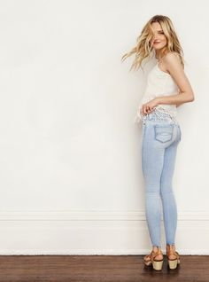 A&F Cara Jean Legging: Made from luxuriously soft and stretchy denim for a legging like fit. Available in low rise or high rise // Abercrombie & Fitch