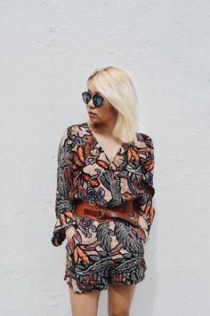 Printed romper #summer #fashion #sunglasses #ootd #style