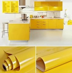 Wallpaper Stickers, Self Adhesive Wallpaper, Wallpaper Roll, Art Deco Furniture, Modern Furniture, Furniture Design, Kitchen Cabinets Cover, Diy Kitchen, Kitchen Design