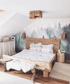 Best Bedroom Decor And Design Ideas With Farmhouse Style 50 + Beste Schlafzimmer Dekor und Desig Bohemian Bedrooms, Bohemian Living, Rustic Crib, Rustic Baby, Bedroom Furniture, Bedroom Decor, Bedroom Ideas, Bedroom Rustic, Wood Bedroom
