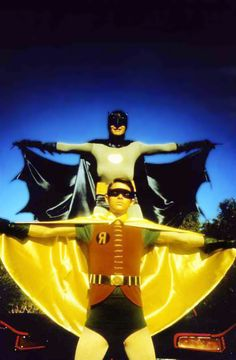 Batman and Robin 1960's....the  real  super  heroes...