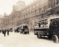 #Visite #touristique @MuseeLouvre oui mais en #omnibus (vers 1912)