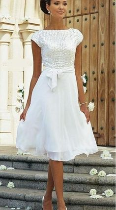 Biała Sukienka Civil Wedding Dresses African Fashion Midi Casual Chic
