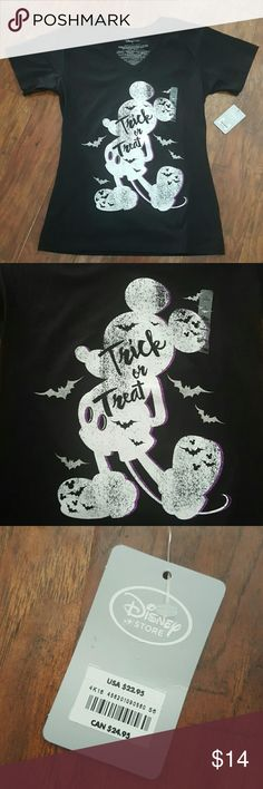 Ladies DISNEY STORE Mickey Trick Or Treat Shirt Brand New! Ladies Trick Or Treat Shirt Purchased from Disney Store! 100% Organic Cotton  Don't forget to BUNDLE!  I have tons of quality items at great prices! Disney Tops Tees - Short Sleeve