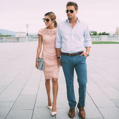 Cutely dressed couple