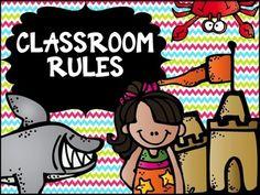 *FREEBIE* Classroom Decor: Ocean/Beach Theme Classroom Rules Posters