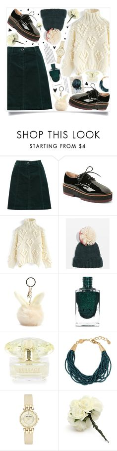 """style"" by lena-volodivchyk ❤ liked on Polyvore featuring M&Co, Kensie, Chicwish, Topshop, Forever 21, Versace, Spartina 449 and Anne Klein"