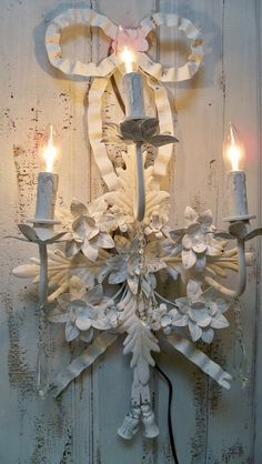 Large electric wall lighting sconce French by AnitaSperoDesign, $180.00