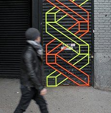 Nihalani uses bright, bold lines at the forefront of all his art as a means of visually creating 3D images on two-dimensional surfaces. The repetition of both squares and rectangles becomes visually pleasing to the eye, conveying such complexities as movement and space by something so genius as the simple placement of a line.
