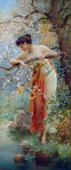Hans Zatzka, 1859-1949, Spring Beauty