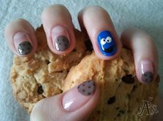 Cookie Monster by ALM - Nail Art Gallery nailartgallery.nailsmag.com by Nails Magazine www.nailsmag.com #nailart
